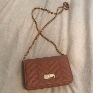 Bebe crossbody purse-blush pink
